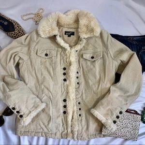 Black Rivet corduroy trucker jacket snap front H